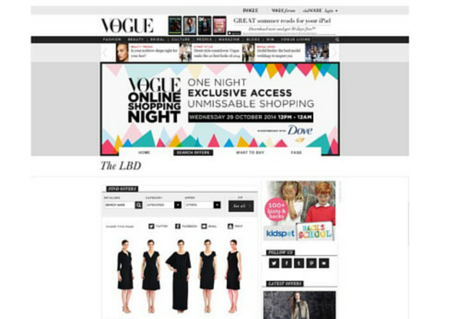 The LBD - Vogue Online Shoping Night